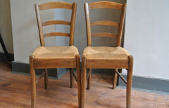 french cherrywood parlour chairs