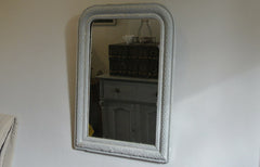 French mirror - pale blue grey - SOLD