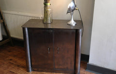 SOLD - Art Deco steel industrial cupboard