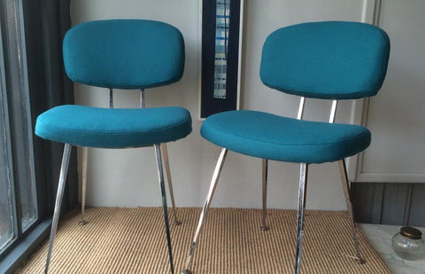 Sold - 50s Italian occasional chairs - pair