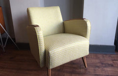 SALE - Danish style armchair - Lime Green Designers Guild