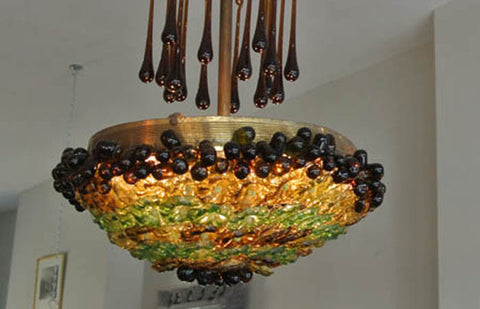 1920s Morroccan coloured glass chandelier - NOW SOLD