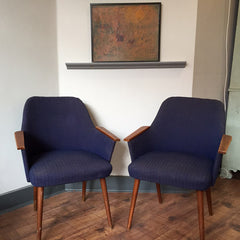 vintage 50s occasional armchairs