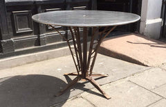 50s french bistro metal table
