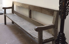 French oak bench chapel bench 19th century