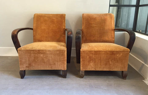SOLD - Art Deco armchairs - French