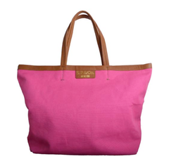 Large pink canvas tote - S.P & Co.