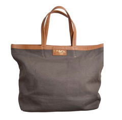 S.P.&Co. Khaki canvas large tote
