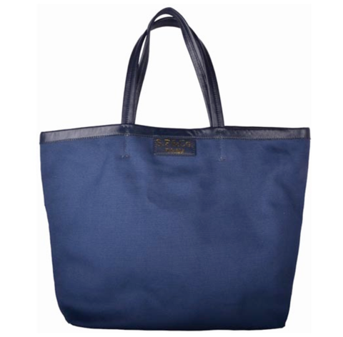 Large Navy canvas tote - S.P & Co.