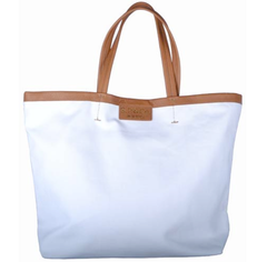 S.P.&Co. Large canvas fully lined tote with leather trim