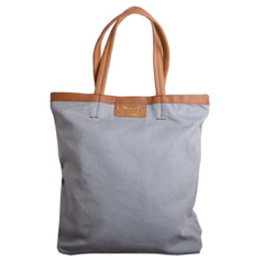S.P.&Co. Canvas tote, fully lined with leather trim