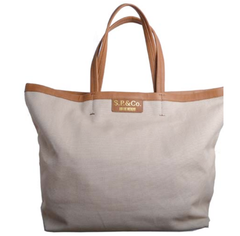 Large sand canvas tote - S.P & Co.
