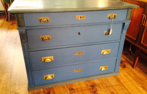 SOLD - Dutch chest of drawers with moulding, turn of the century