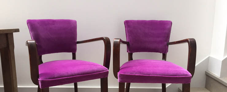 Vintage Designers Guild Velvet Bridge Chairs