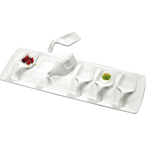 6 piece tasting set with tray
