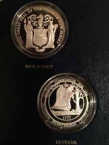 NEW JERSEY Official Sterling Silver Bicentennial PROOF Medal