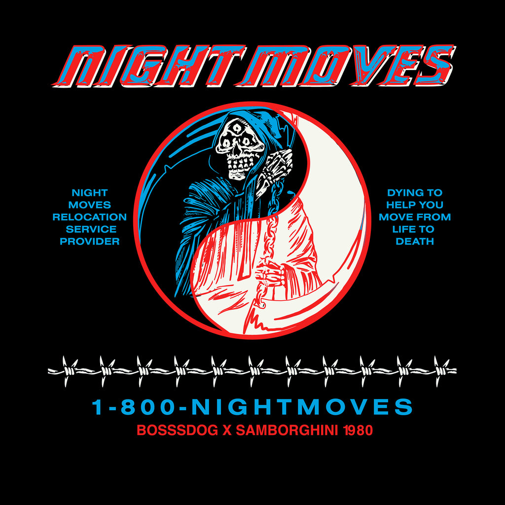 Night Moves T shirt Collab with Samborghini