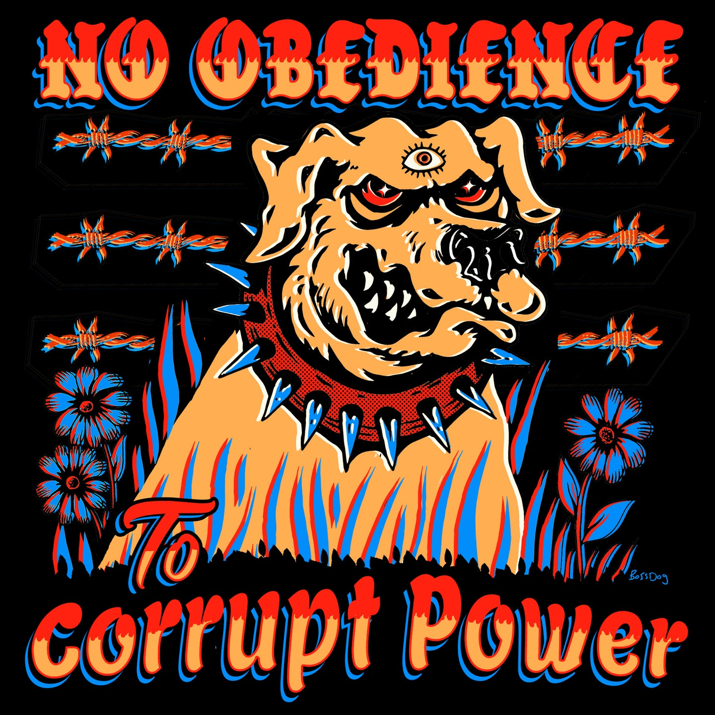 No Obedience Sticker
