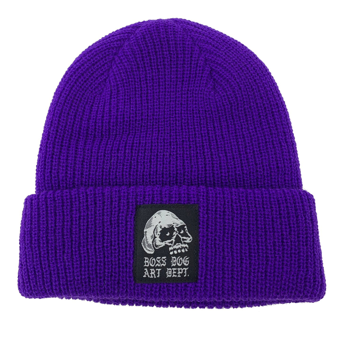 Boss Dog Art Dept. Purple Beanie