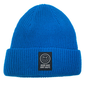 Boss Dog Art Dept. Blue Beanie