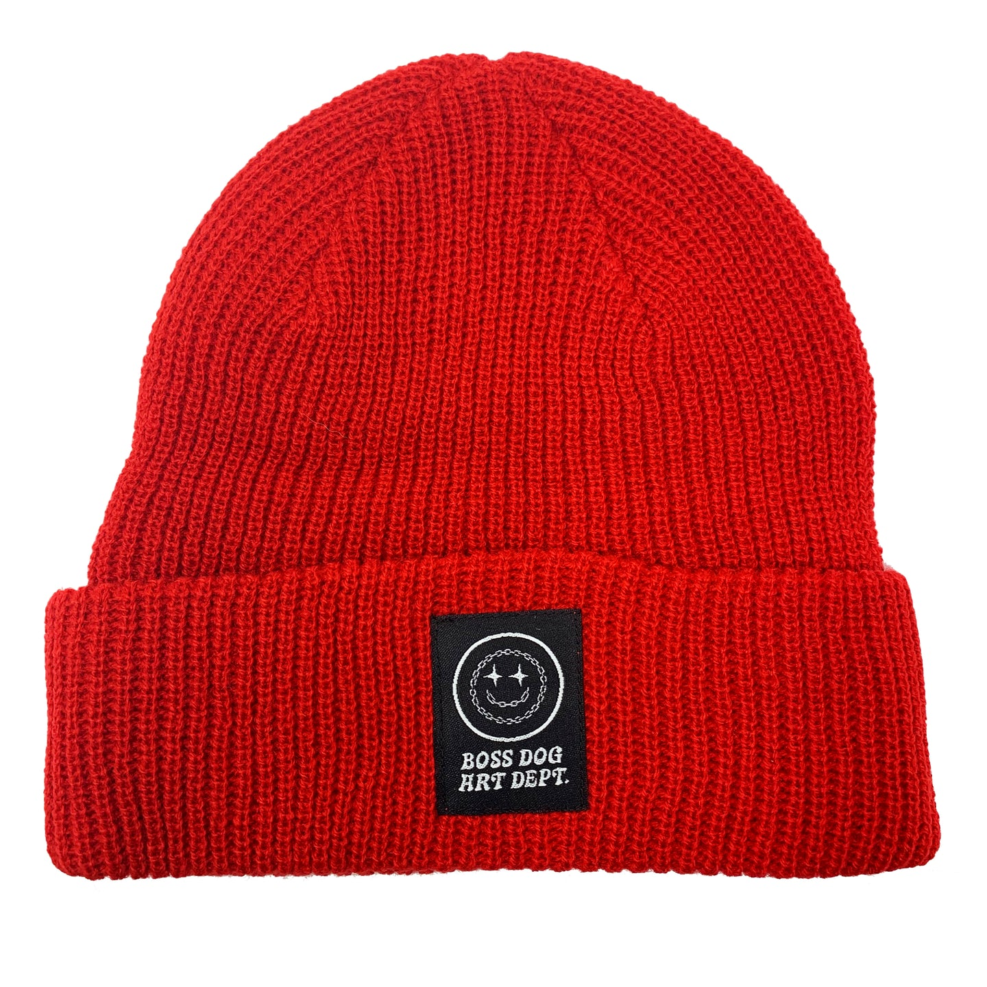 Boss Dog Art Dept. Red Beanie