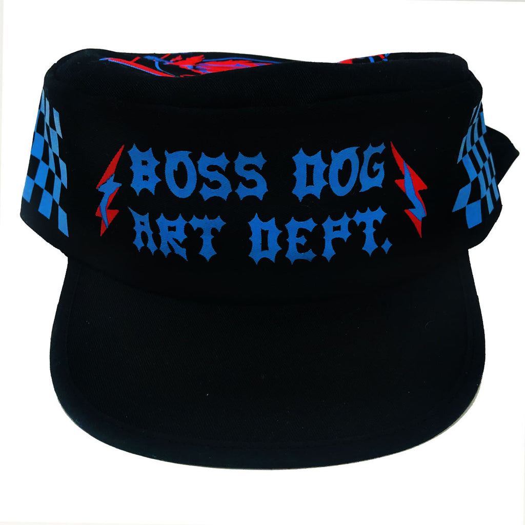 Boss Dog Art Dept. painters cap with flaps