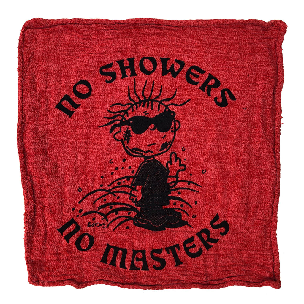 No Showers No Masters Shop Rag