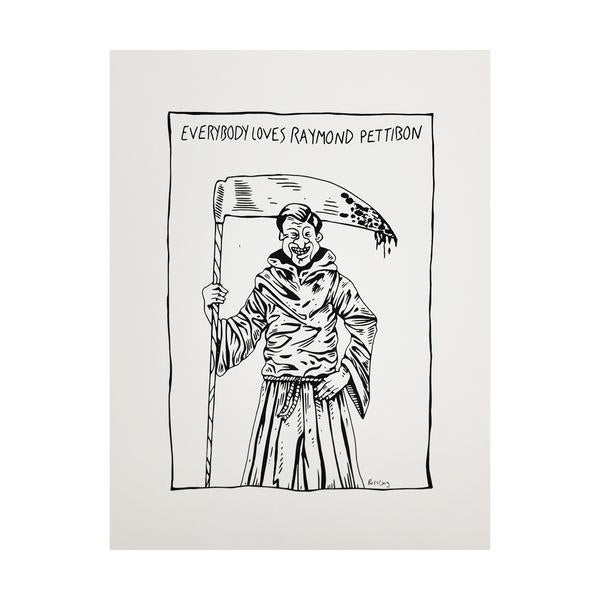 Everybody Loves Raymond Pettibon Art Print