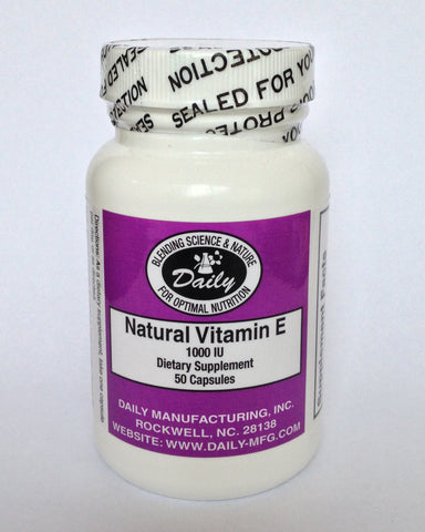 Vitamin E, All Natural Mixed Tocopherol
