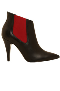 Diana Black-Red Leather
