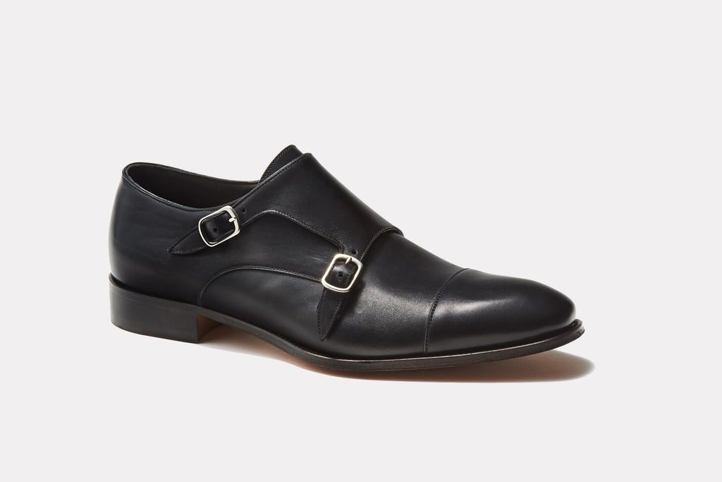 Prato Black Leather