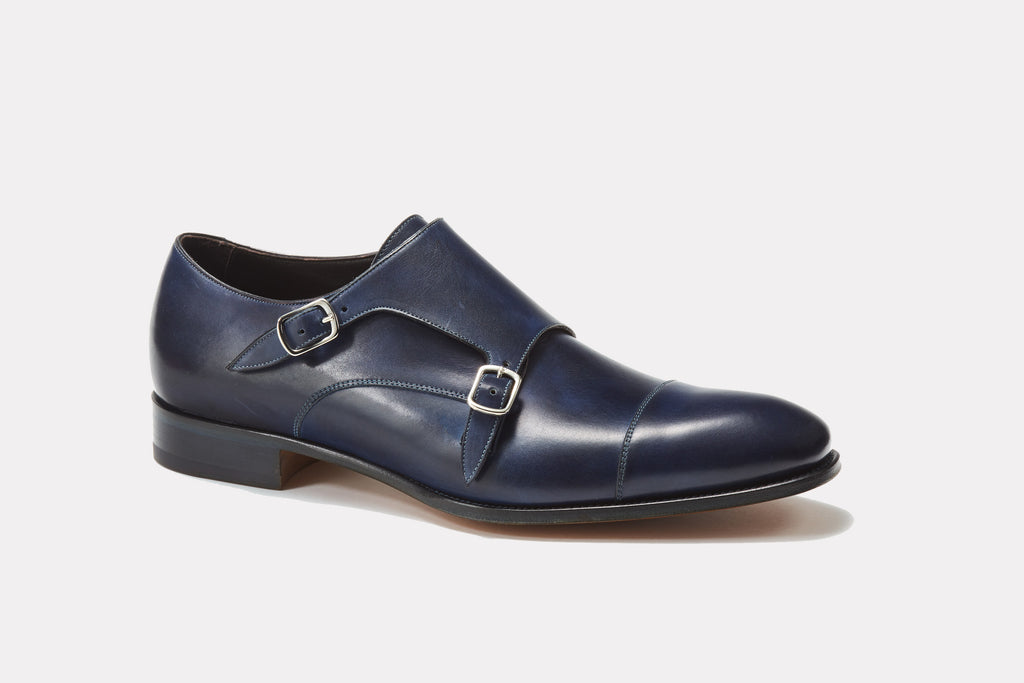 Prato Blue Leather