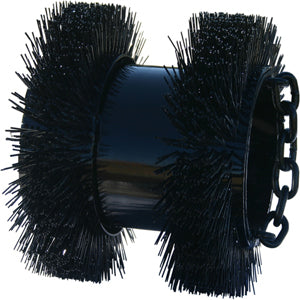 duct brush, RB type duct brush, heavy duty duct brush, rodding brush
