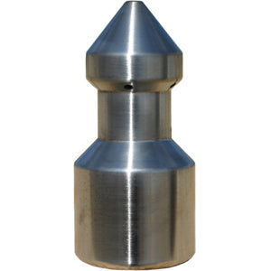 piercing nozzle, sewer cleaner nozzle, penetrator nozzle, ice breaker nozzle, jetter, jetting, jet rodder, jet rodding