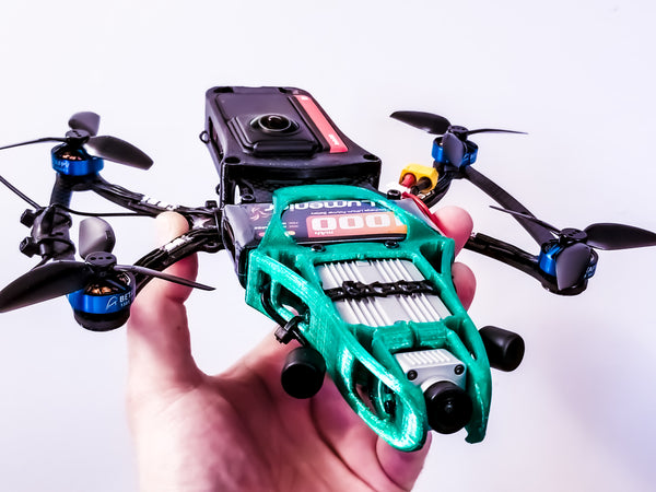 Cine-Bird OG FPV Frame Kit - One-R Edition w/ INVISIBLE DRONE Feature (for Insta360 One R 360 camera)
