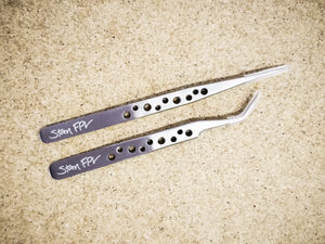 Stan FPV Brand Tweezers (Straight + Angled Tip 2-Pack Set)