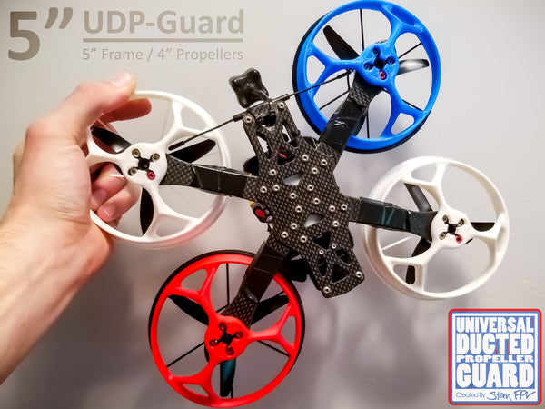 "5"" Universal Ducted Propeller Guards (REMOVABLE TOP!) (FULL SET + 1 FREE!)"