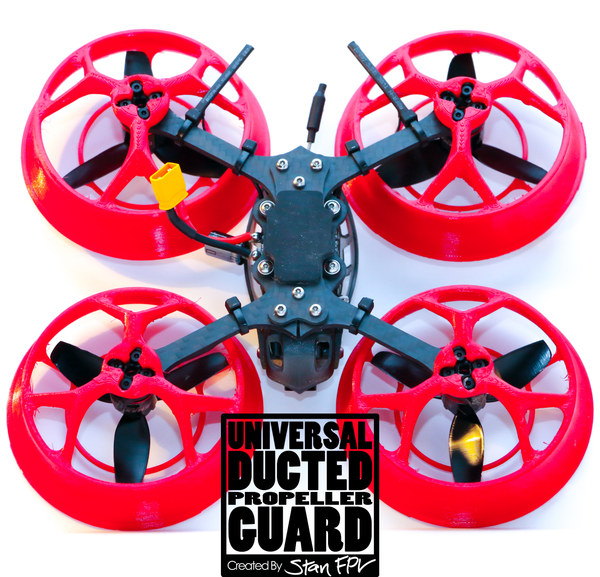 "3"" Universal Ducted Propeller Guards (REMOVABLE TOP!) (FULL SET + 1 FREE!)"
