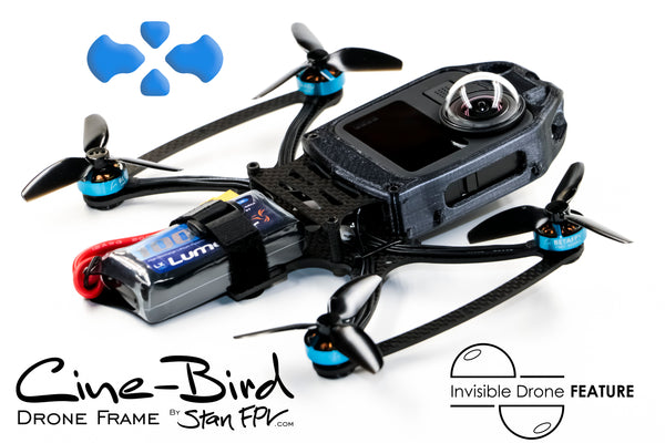 Cine-Bird FPV Frame Kit - MAX Edition w/ INVISIBLE DRONE Feature (for GoPro MAX 360 camera)