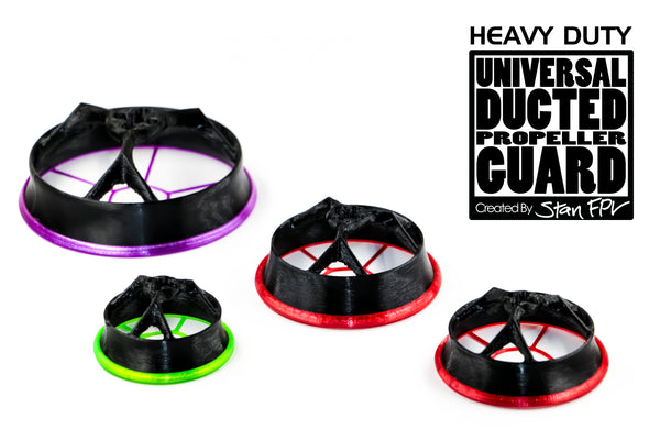"HEAVY DUTY VERSION! 4"" Universal Ducted Propeller Guards (REMOVABLE TOP!) (FULL SET + 1 FREE!)"