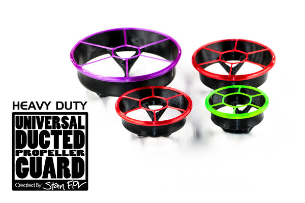 "HEAVY DUTY VERSION! 3"" Universal Ducted Propeller Guards (REMOVABLE TOP!) (FULL SET + 1 FREE!)"