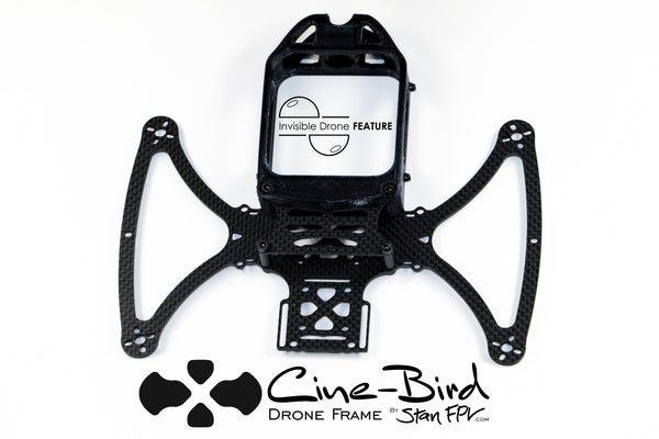 "CINE-BIRD OG Cinematic FPV Drone Frame-Kit w/ ""Invisible 360 Drone"" Feature!"
