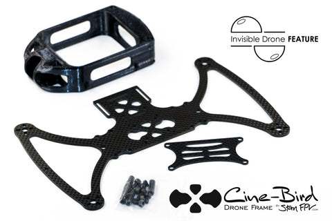 Cine-Bird OG FPV Frame Kit - MAX Edition w/ INVISIBLE DRONE Feature (for GoPro MAX 360 camera)
