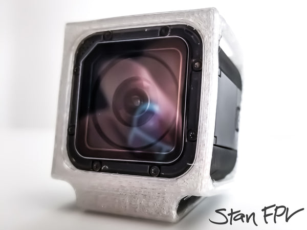 Minimal Design GoPro Session 5 Dampening TPU Mount - (Works with Reelsteady GO!)