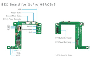 Naked GoPro 6 BEC Board