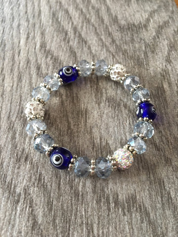 Blue Crystal Lucky Eye Bracelet