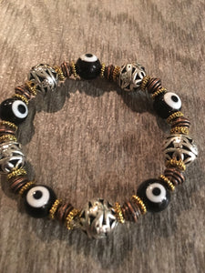 Two tone - Black and Gold Bracelet