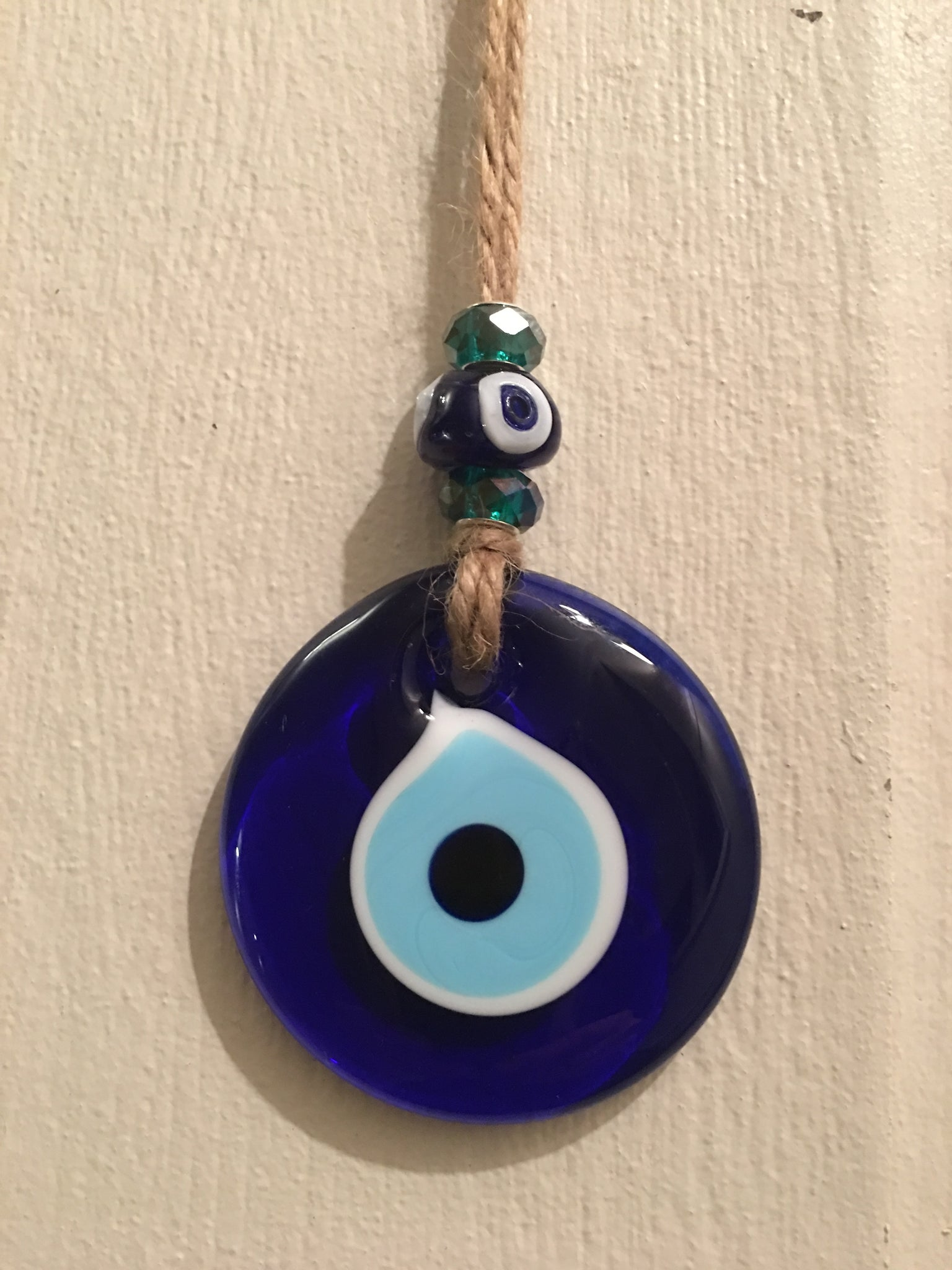 Glass Evil Eye Wall Hanging 2.75