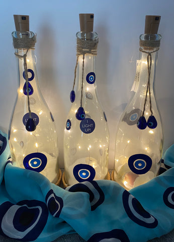 Evil eye Light up Bottle