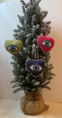 Evil Eye Heart Shaped Ornament
